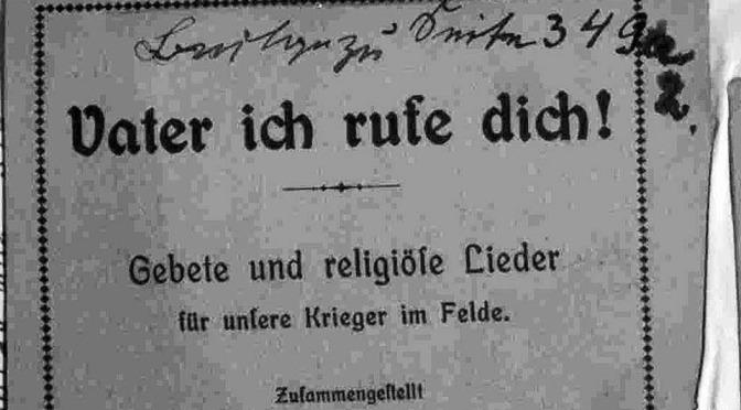 Die Kirche und der Erste Weltkrieg