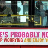 Gottlos glücklich - Geschichte der Buskampagne