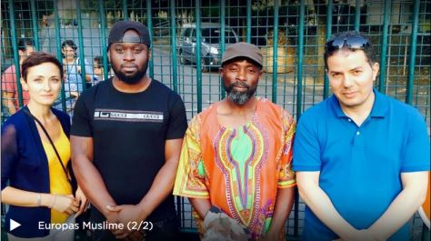 ARTE - Europas Muslime (2/2): Im Brüsseler Vorort Vilvoorde: Nazan Gökdemir (links) und der Islamkritiker Hamed Abdel-Samad mit dem Streetworker Jérémie Maradas-Nado.