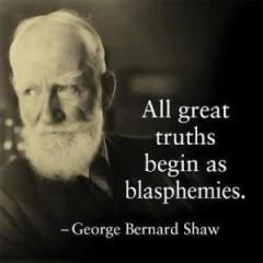 Shaw - beginning with blasphemy