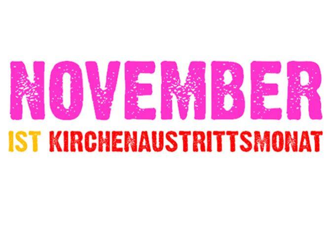 November ist Kirchenaustrittsmonat