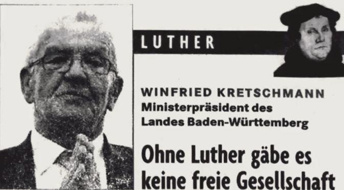 Winfried Kretschmann: Ohne Luther gäbe es keine freie Gesellschaft