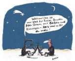 Weihnachten im Krieg (18) ,Weihnachten ist nur was für Pussies, Bruder. Aber Ostern, mit Geißeln und Kreuzigen - Herz was willst du mehr! , Elektronische Postkarte, Weihnachten, Ostern, Pussies, Geißeln, Kreuzigen, Krieg, Burke, Burkhard Fritsche [27.11.2014]