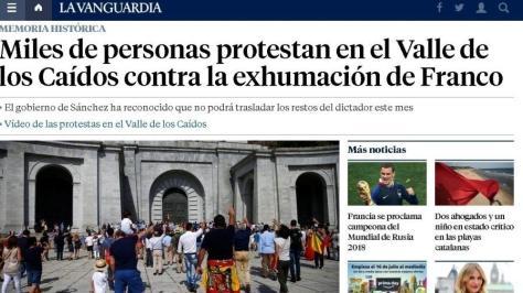 faschistischer Gruß bei Madrid