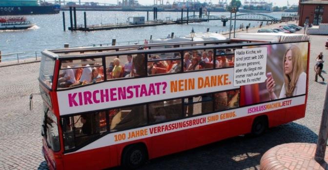 Schlussmachen jetzt! – Die säkulare Buskampagne 2019