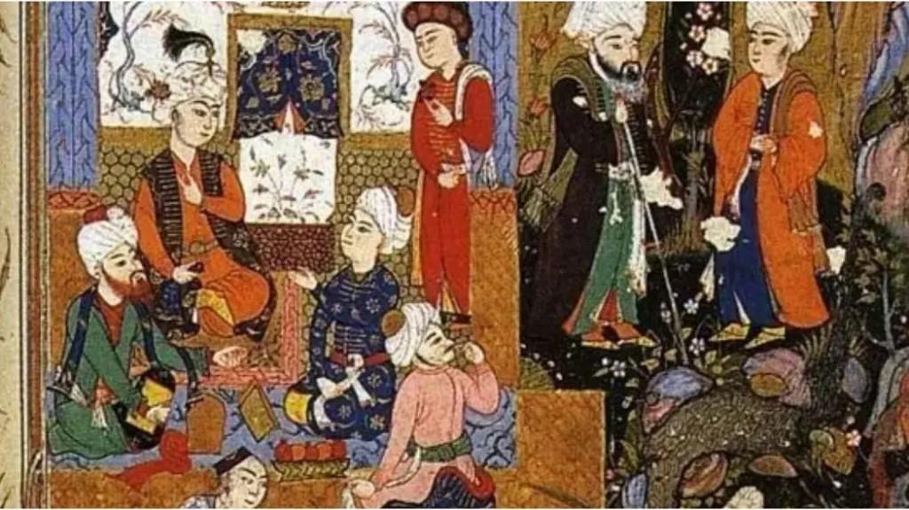 Rumi zeigt seine Liebe seinem Schüler Hussam al-Din Chelebi.
