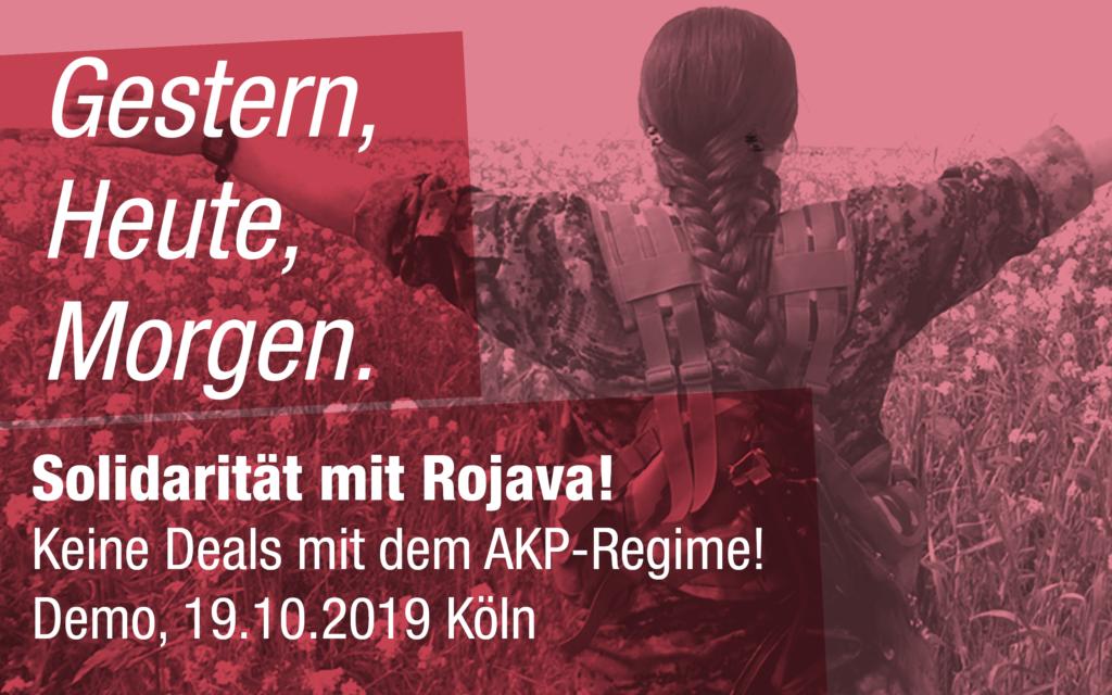 Gegen den türkischen Angriffskrieg in Nordsyrien Demo 19.10.2019 in Köln